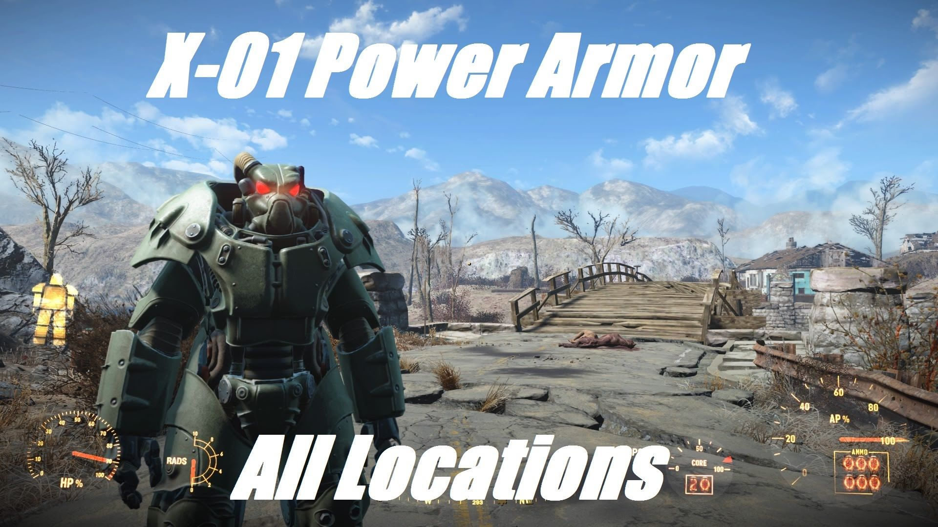 Fallout 4 (All X-01 Power Armor Locations) | Game Vids