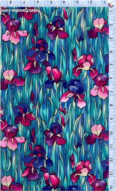 Deco Delight - Beautiful Field of Irises #2 - Artist-Inspired, Elkabee's Fabric Paradise.com, LLC