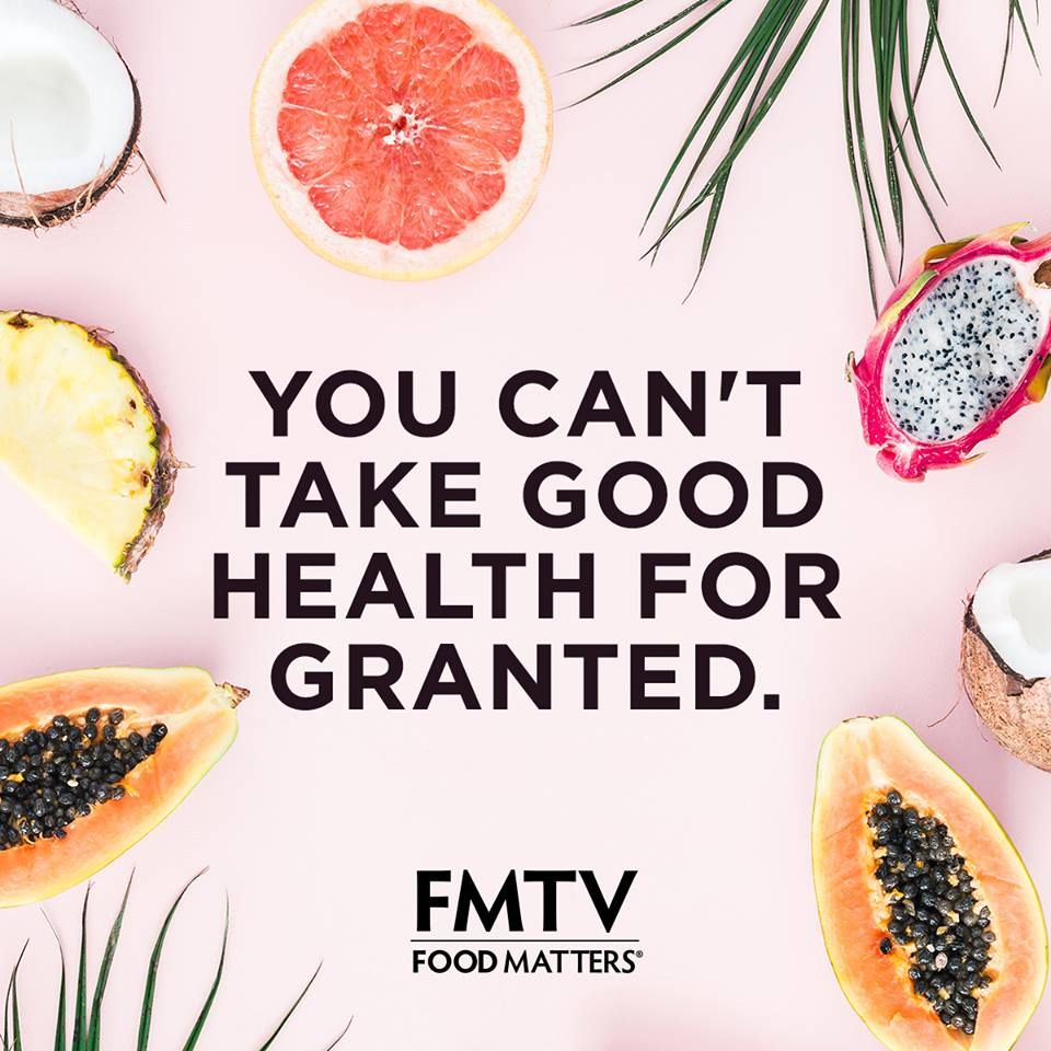 Never take it for granted health is wealth