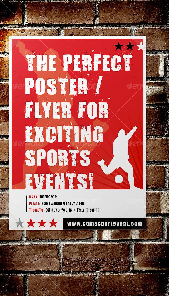 Sport Event Poster  Flyer  Flyer Template Font Logo And Logos