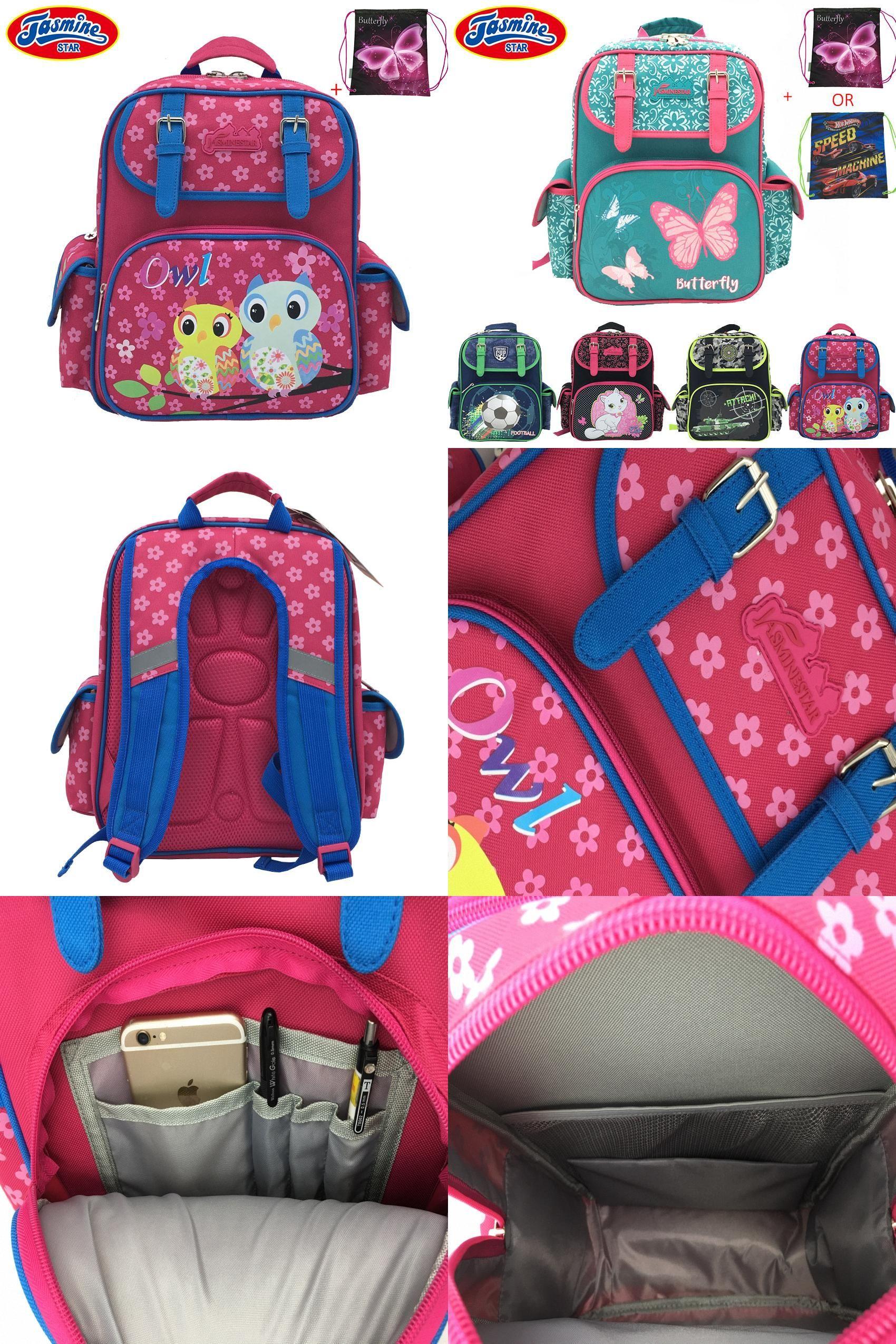 64cf82997d  Visit to Buy  JASMINESTAR Children s School Bags 2017 New Butterfly Cat  Owl Anime Backpack