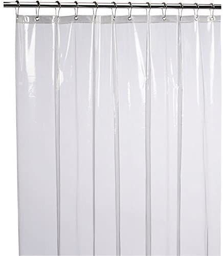LiBa Mildew Resistant Anti-Microbial PEVA 8G Shower Curtain Liner (36x72, Clear)