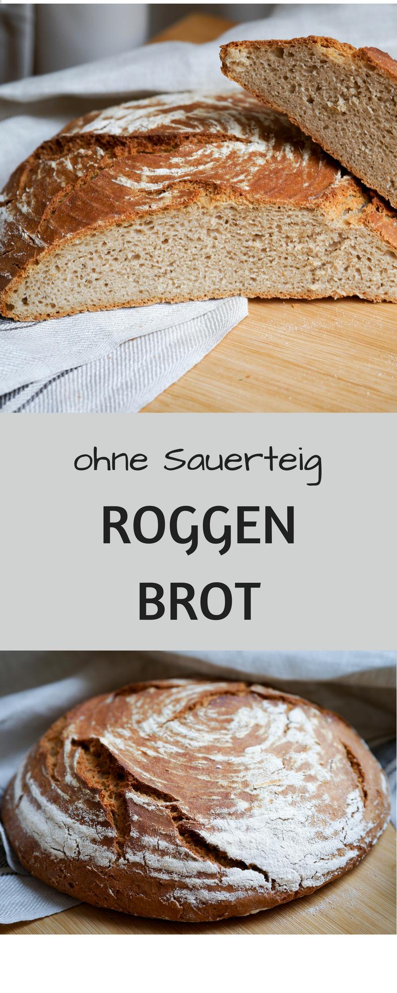 Bauernbrot ohne Sauerteig - FoodForFamily  Brot selber backen