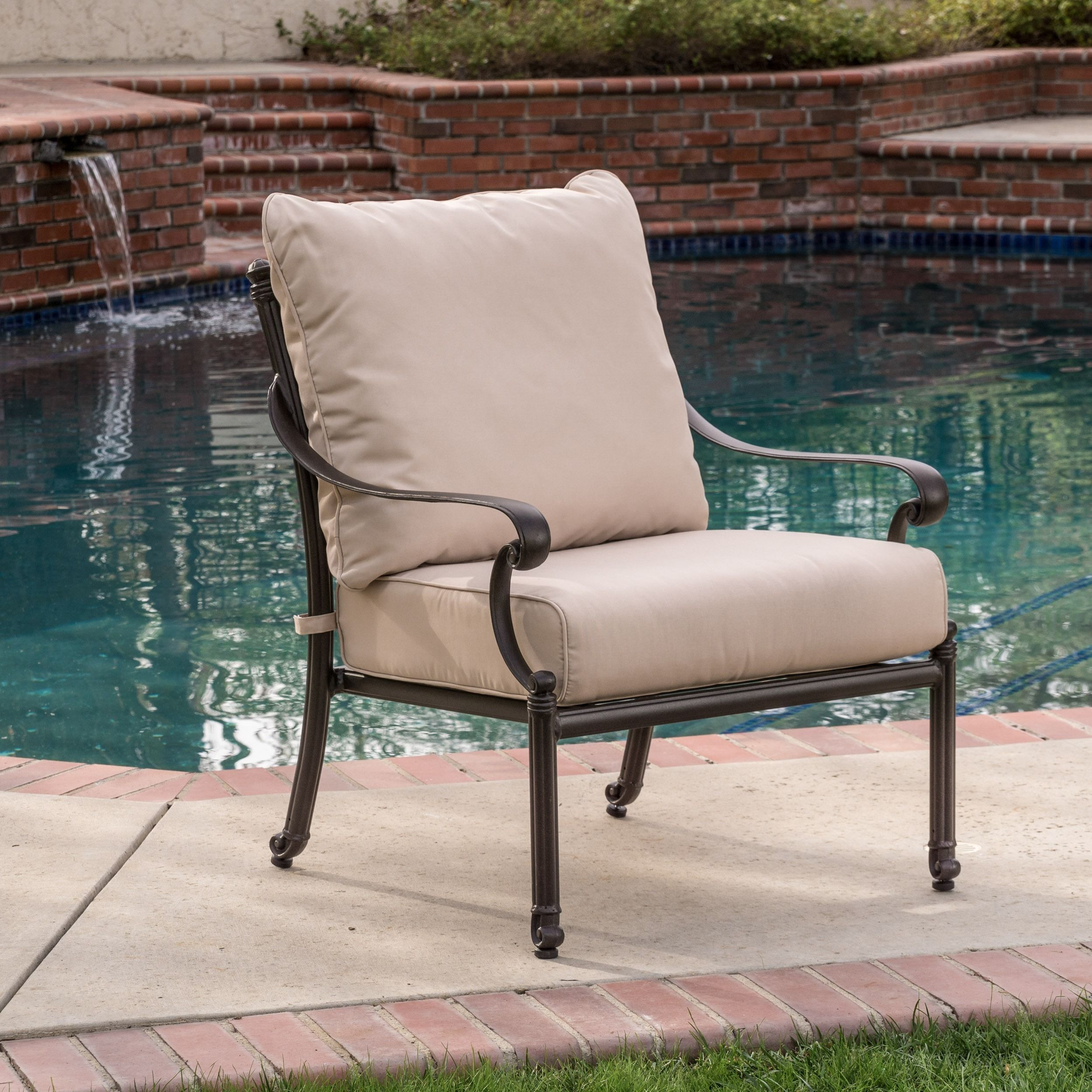 Hemingway Outdoor Armchair by Christopher Knight Home by