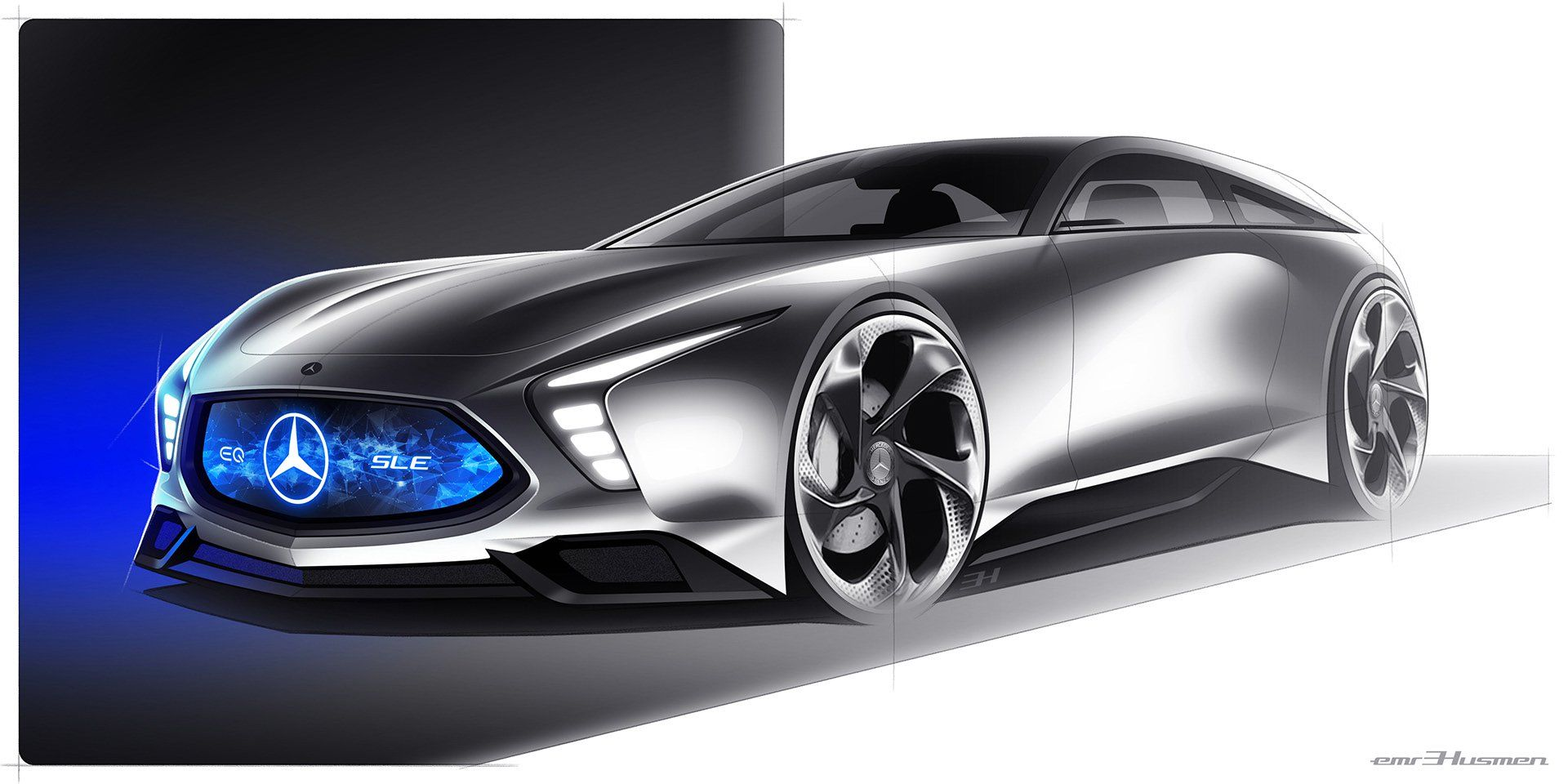 Mercedes Benz Sle Shooting Brake Offers An Futuristic Take On The Sl S Future Carscoops Benz Mercedes Benz Mercedes Concept