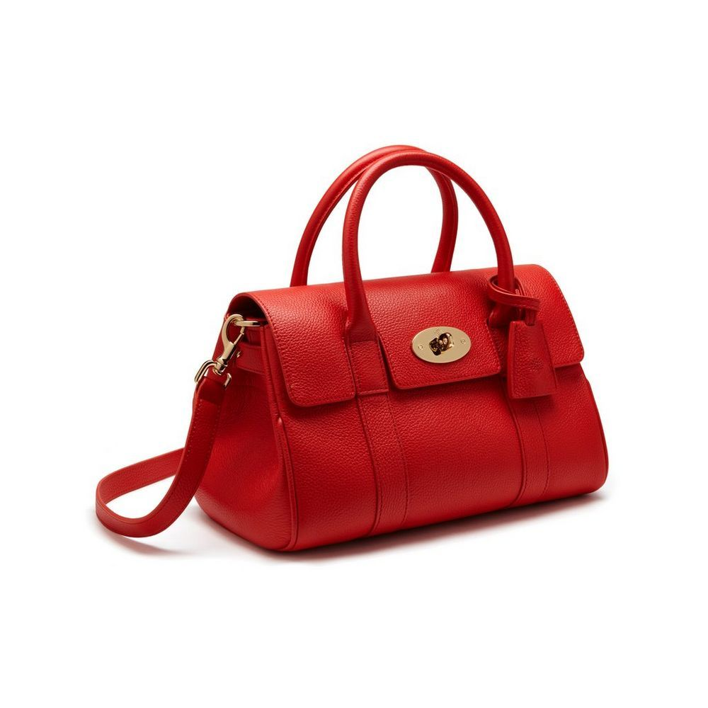 58c33f3a5177 Small Bayswater Satchel in Fiery Spritz Small Classic Grain