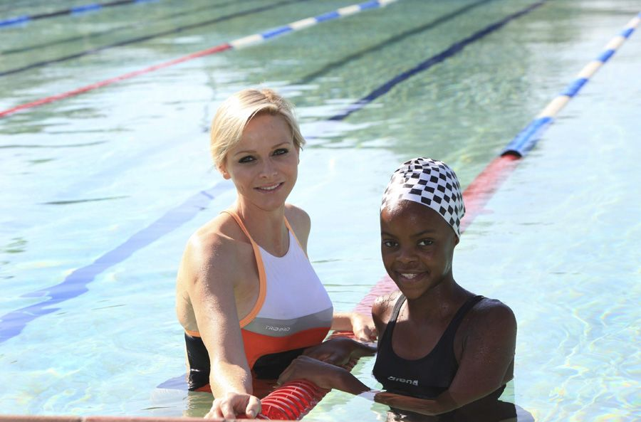 While in South Africa she also visited her old training base at the municipal Lahee Park swimming pool in Pinetown, where she met with Khwezi Duma, one of the 2016 Olympic hopefuls. May, 2013
