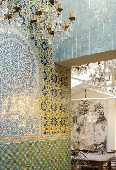 Tiles in le chandelier teashop east dulwich for the home tiles in le chandelier teashop east dulwich aloadofball Gallery