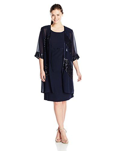 dc41025a670 Beautiful Maya Brooke Women s Plus-Size Sequin Striped Duster Jacket with  Dress online.   110  offerdressforyou from top store