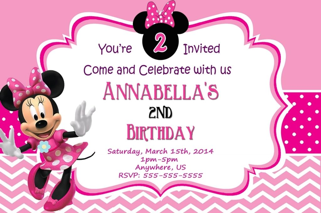 Minnie Mouse Party Invitations Templates Free printable minnie mouse ...