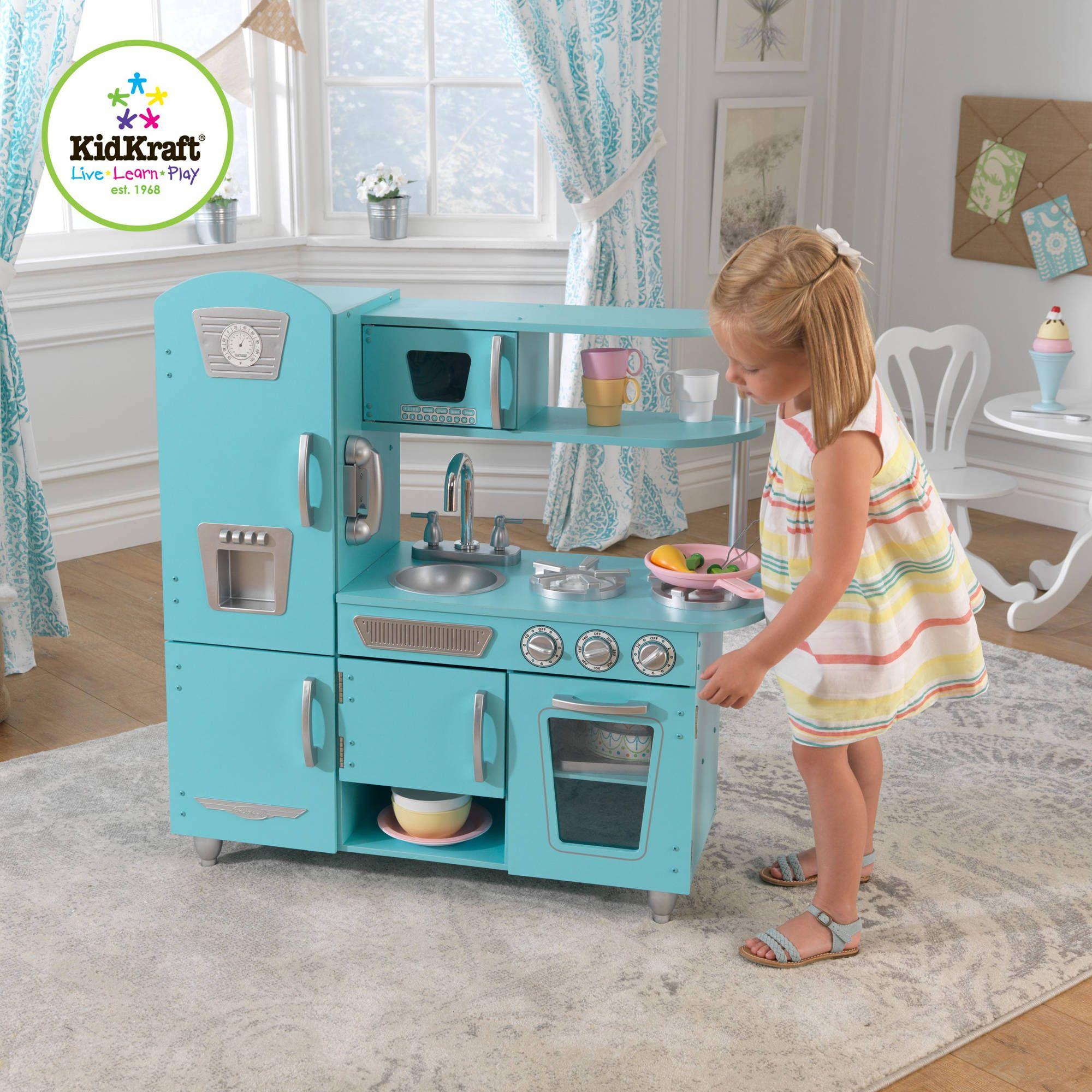 Kidkraft Vintage Wooden Play Kitchen Set Blue My Little Pepper Pinterest Sets And Painting Prints