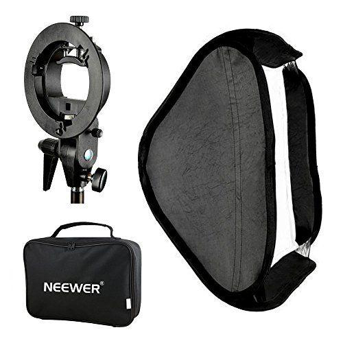"""Neewer® Photo Studio Multifunktionale 24x24""""/60x60cm Softbox mit S-Type Bügel Halterung Bracket Mount und Tragetasche Set für Porträt order Produktfotografie - http://kameras-kaufen.de/neewer/60x60cm-softbox-mit-s-type-bracket-neewer-photo-s"""
