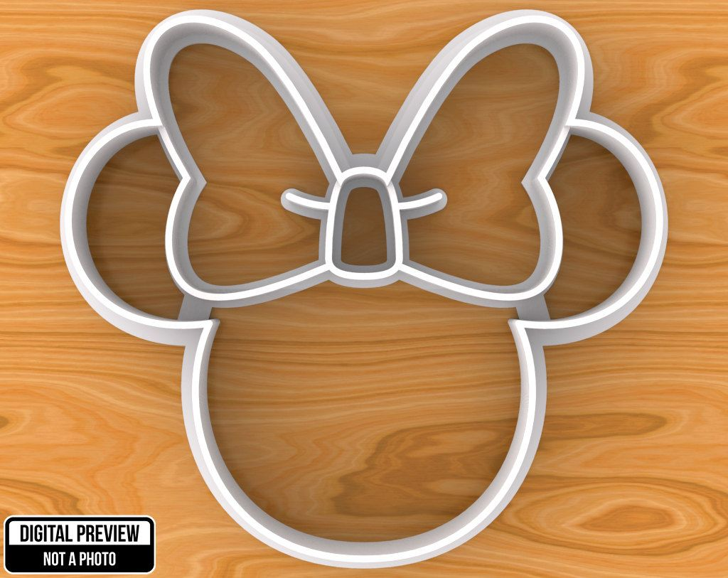 Minnie Mouse Cookie Cutter Detailed Or Outlined Selectable Sizes