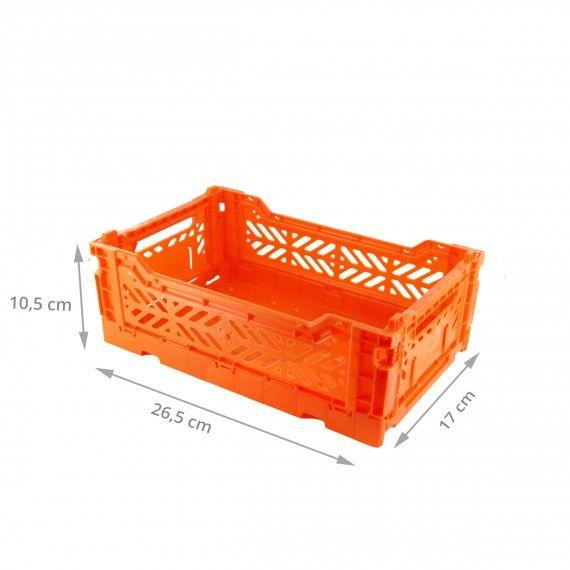 Mini Cagette En Plastique Orange Empilable Et Pliable Cagette Plastique Cagette Rangement