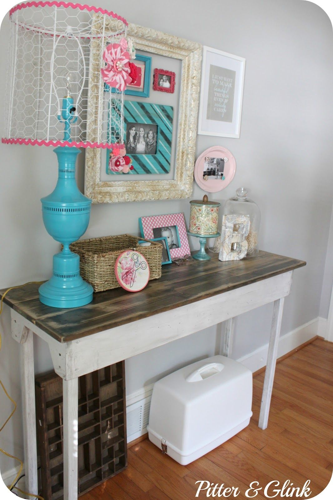 PitterAndGlink: {DIY $20 Vintage-Looking Table}-how cute is all of this?!