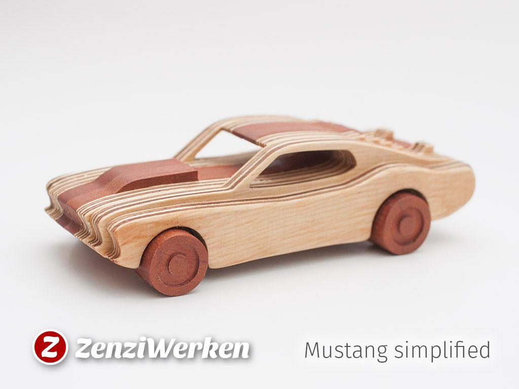 1969 Ford Mustang, zweifarbig Holzmodell | CNC-Projekte | Pinterest ...