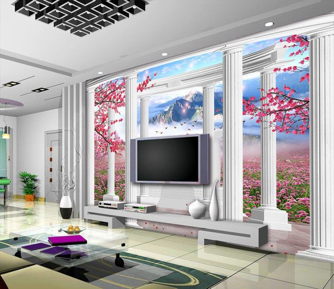 vlies fototapete 3d dreidimensionale fantasy landschaft kn 1052 dekorationshop vlies. Black Bedroom Furniture Sets. Home Design Ideas