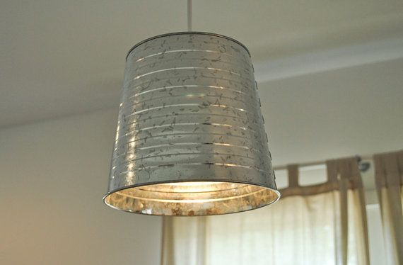 galvanized bucket pendant light fixture pendant light
