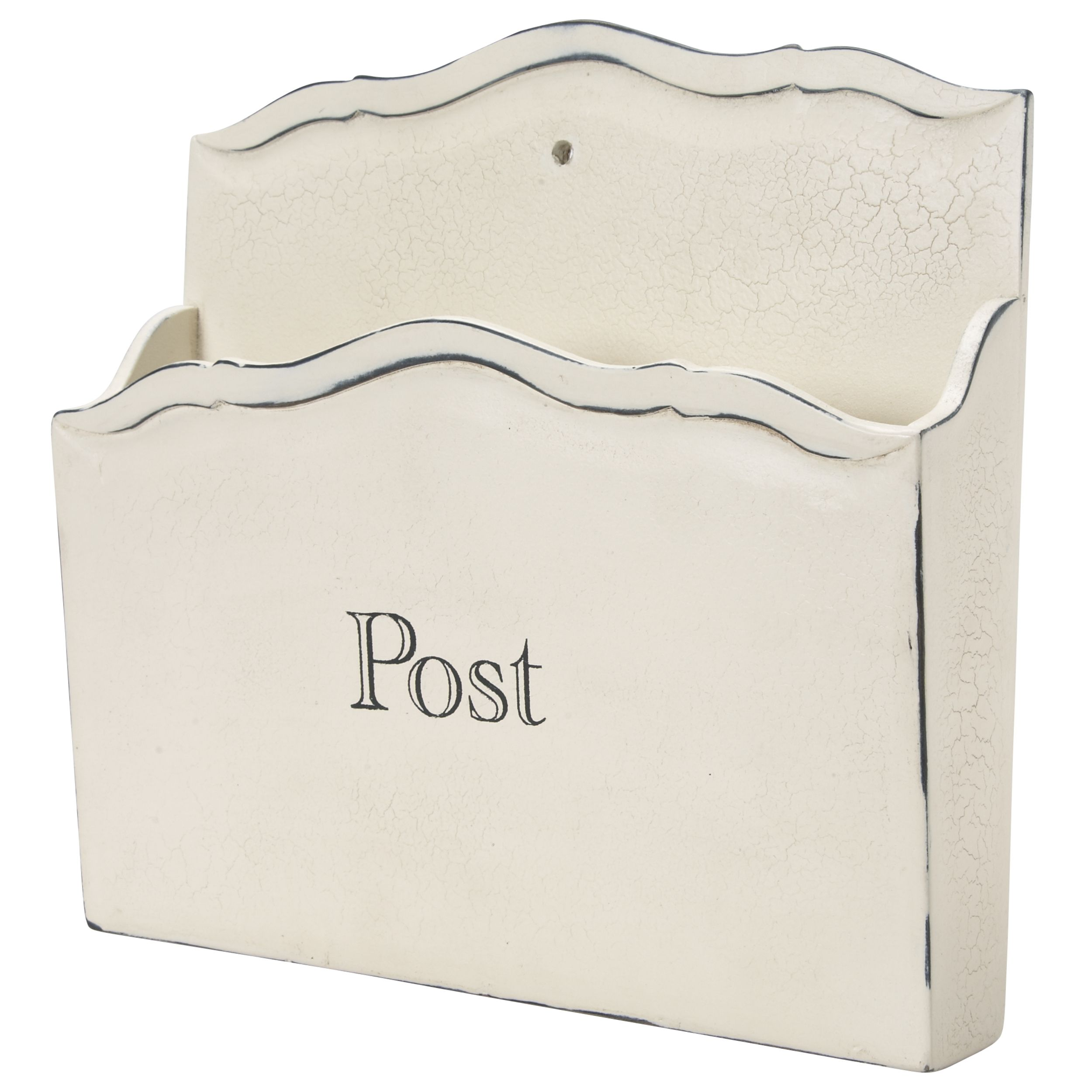"""""""Bramley"""" letter holder in distressed cream from Laura Ashley."""