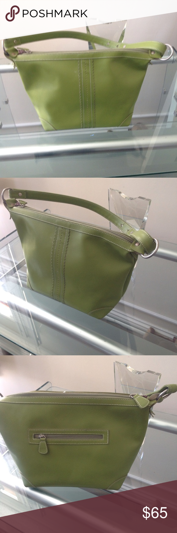 Green Purse Classic Leather Awesome Quality Us Designer Mitzi Baker Handbags Bags Shoulder