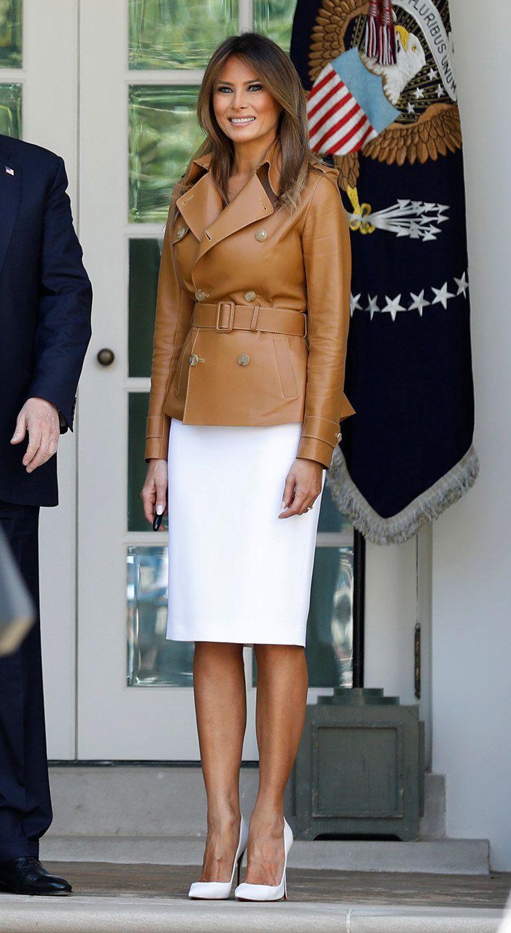 a76353b08bb9 Мелания Трамп в безупречном образе от Ralph Lauren