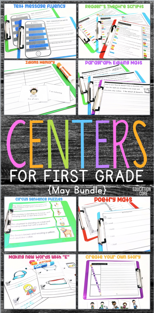 10 Easy to Prep Literacy Center Ideas for May | First ...