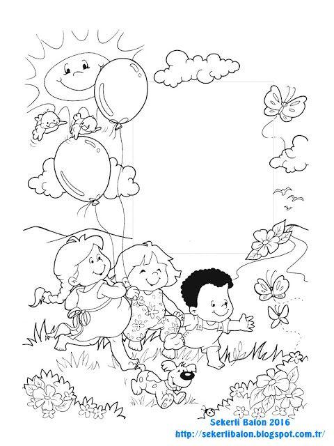 şekerli Balon Boyama Boyama Sayfası