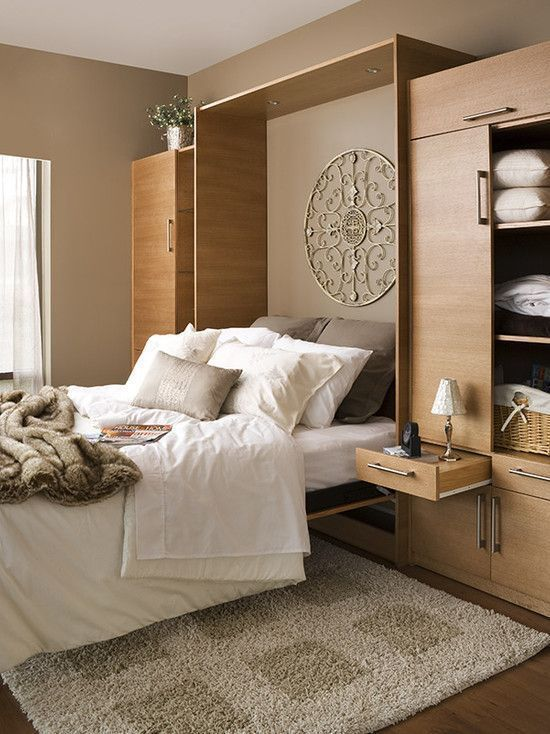 Фотография:  в стиле , Гостиная, Детская, Спальня, Квартира, Советы, Бежевый, Серый, Мебель-трансформер, кровать-трансформер, диван-кровать – фото на InMyRoom.ru: