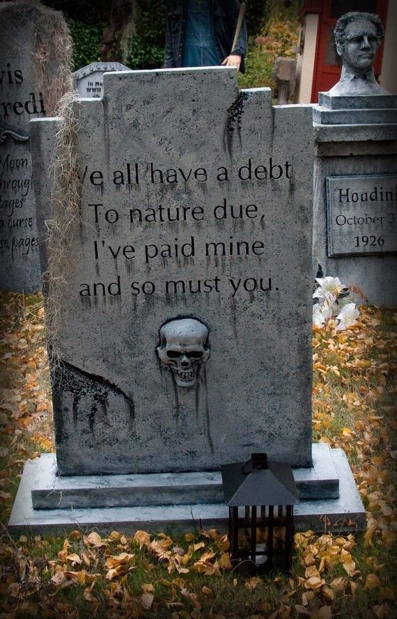 Sold on etsy epitaph designed and tile printed in sections for Tombstone templates for halloween