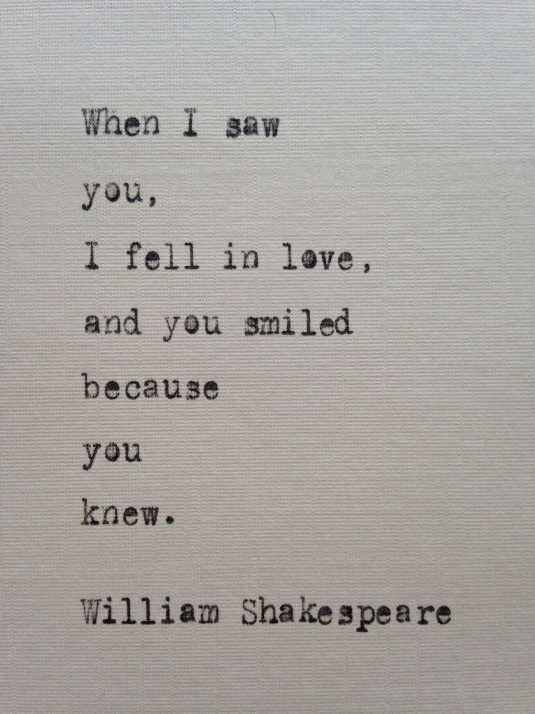 William Shakespeare quote hand typed on antique typewriter