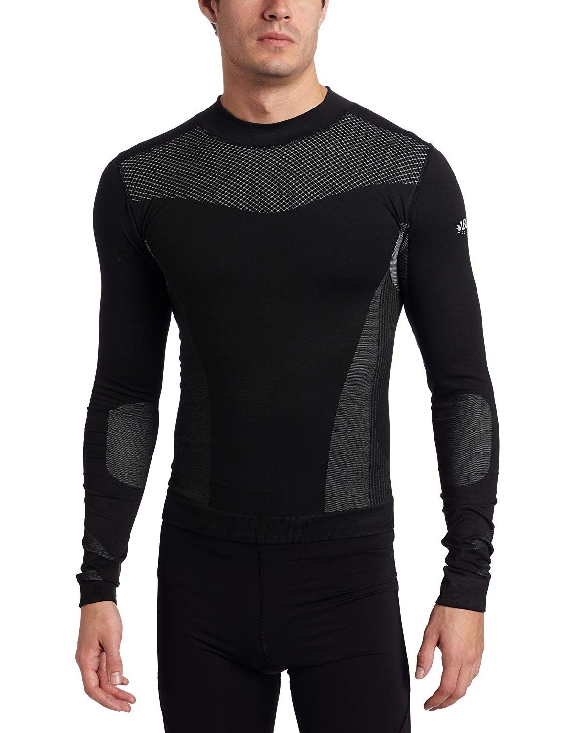 Men's Base-Layer Technical Long Sleeve Top - Charcoal - C8114UP6DZT Size  Medium   Outdoor outfit, Mens outdoor clothing, Designer suits for men