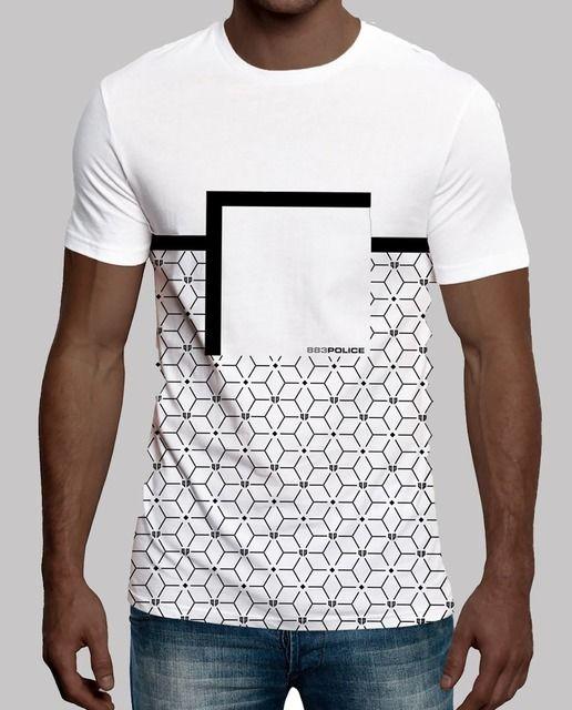 788f9901ae Camiseta de hombre 883 Police de manga corta con estampado geométrico