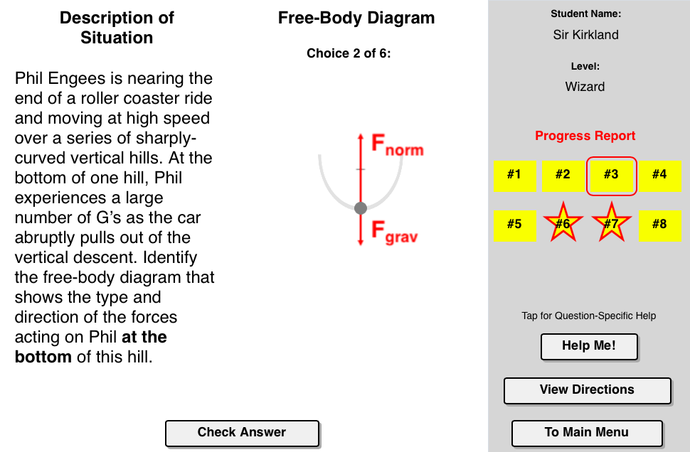 Forces In Circles Concept Builder In This Interactive Exercise Students Identify The Free Body Diagrams For Situations In Body Diagram Motion Progress Report