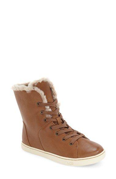 17aa14eaa3a UGG Croft Luxe' Genuine Shearling High Top Sneaker (Women ...