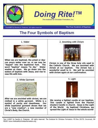 The 4 Symbols Of Baptism Baptism 2 With The Holy Spirit