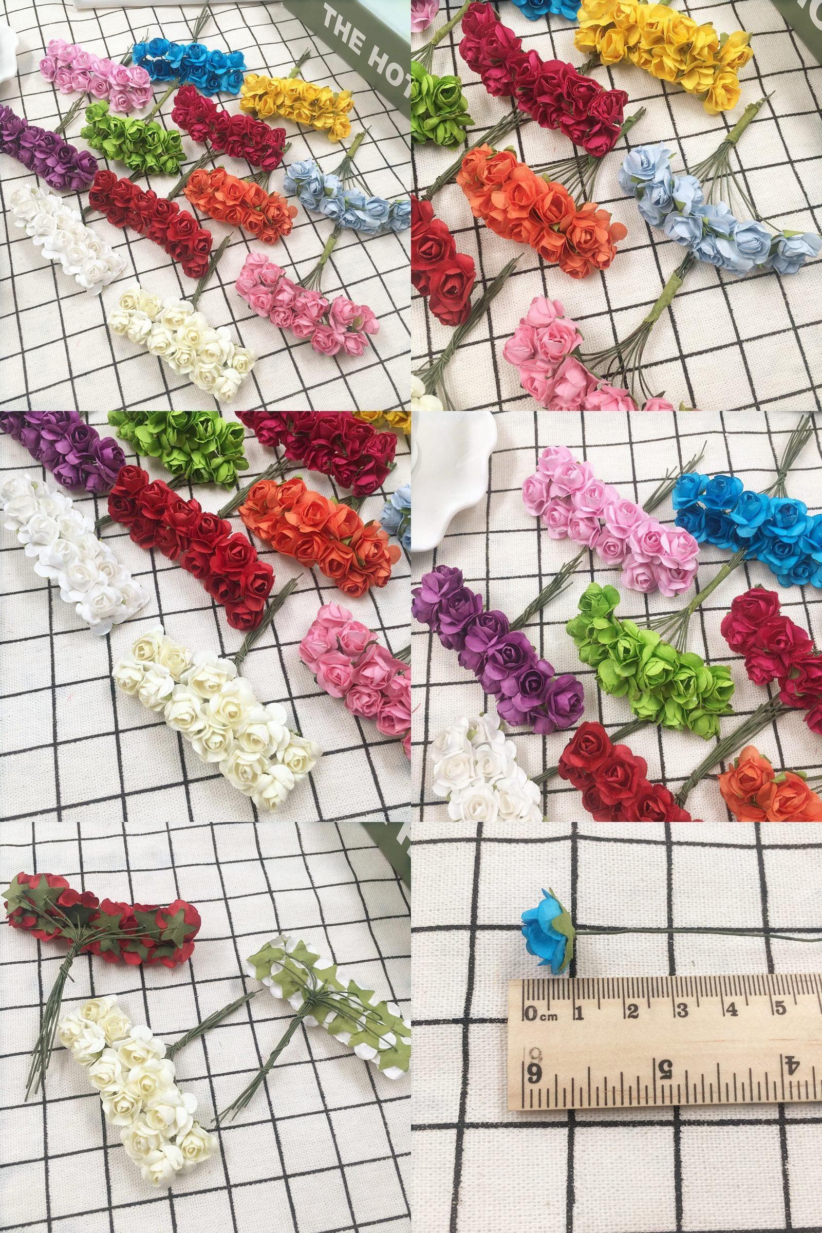 Visit To Buy 24 Pcs 1 Cm Artificial Bouquets Of Roses Paper