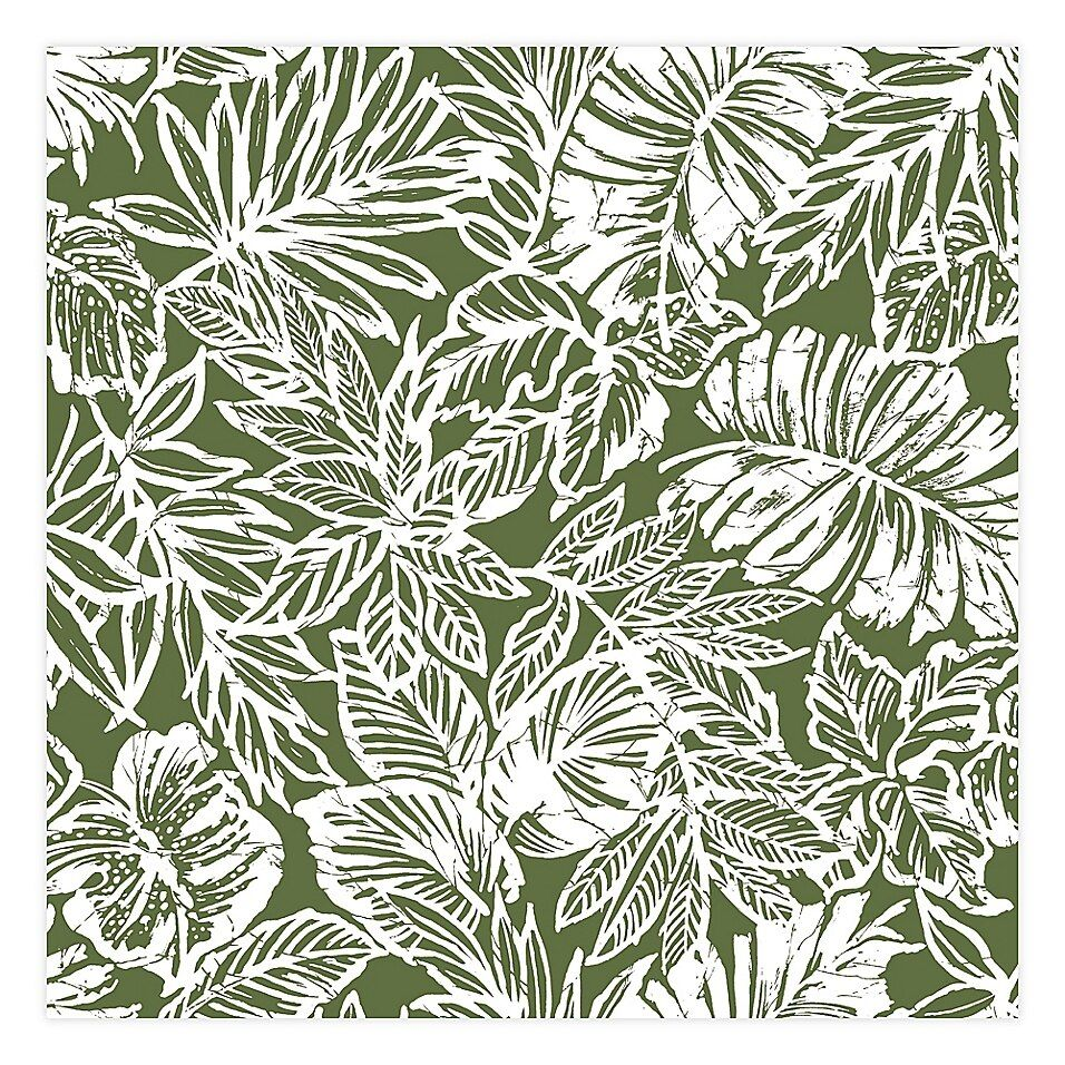 Roommates Batik Tropical Leaf Peel Stick Wallpaper Bed Bath Beyond Peel And Stick Wallpaper Tropical Leaves Peelable Wallpaper