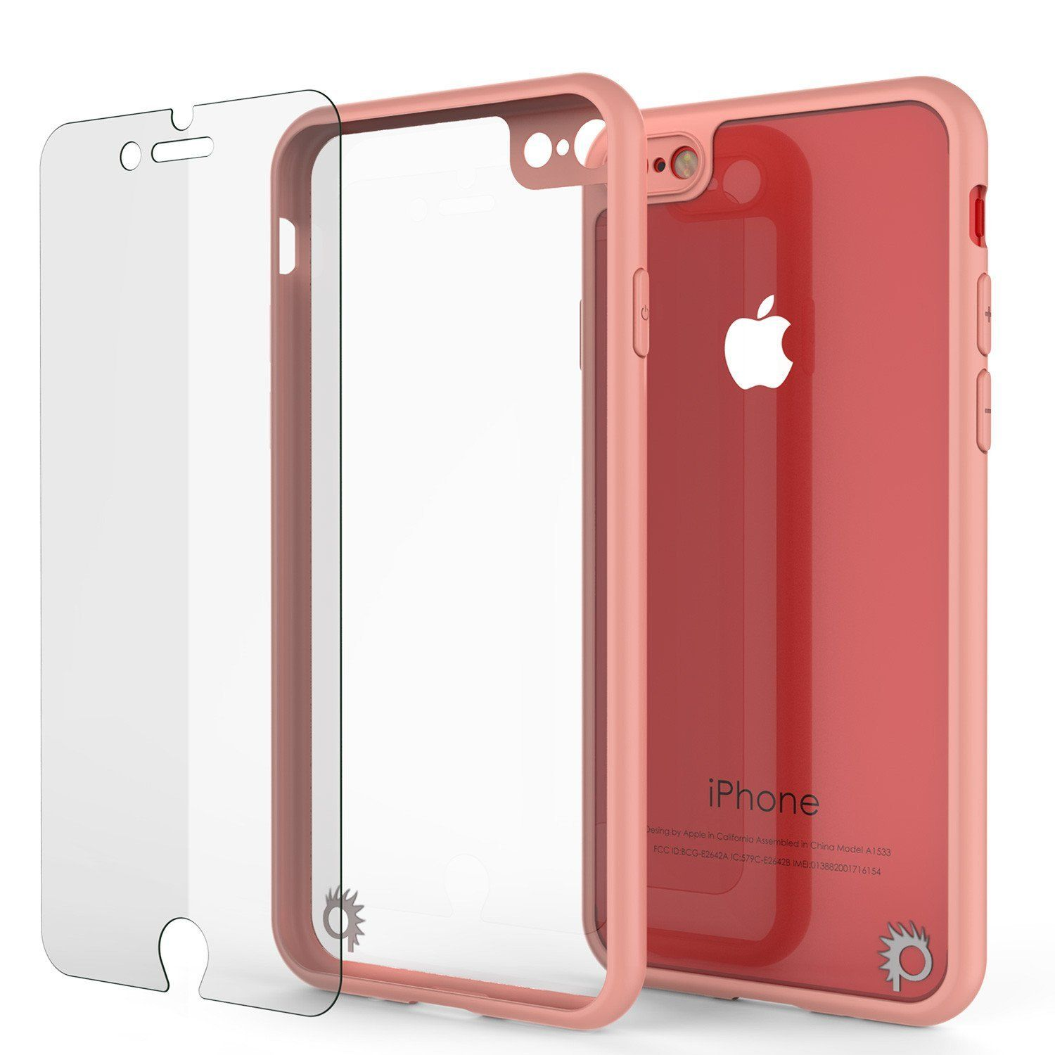 Iphone8 Case Punkcase Mask Series Pink Full Body Hybrid Dual Laye Glass Screen Protector Iphone Iphone 7 Screen Protector Iphone 6s Glass Screen Protector