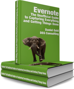 Evernote guide. If you are looking for a definitive guide to using Evernote in business and life, look no further. I am reading this now, and it's amazingly helpful. I don't need to re-create the wheel.