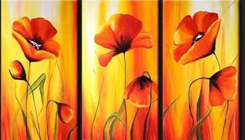 Cuadros florales dipticos tripticos modernos picturi - Cuadros florales modernos ...