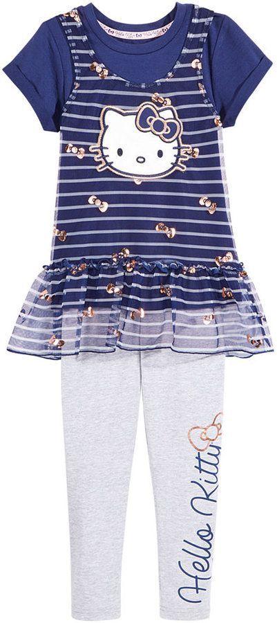 13bdd6415 Hello Kitty 2-Pc. Layered-Look Tunic & Leggings Set, Toddler Girls (2T-5T)