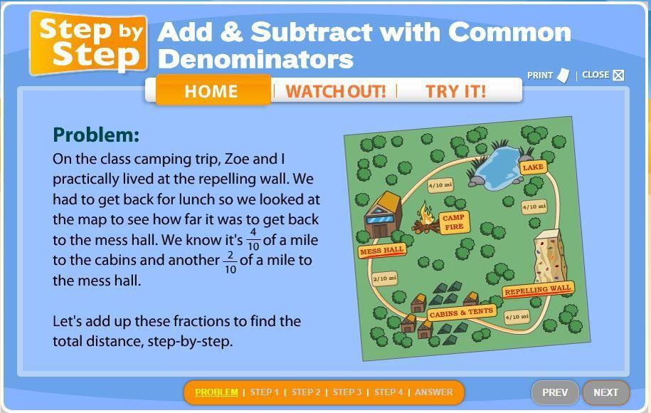 how to subtract fractions with unlike denominators calculator