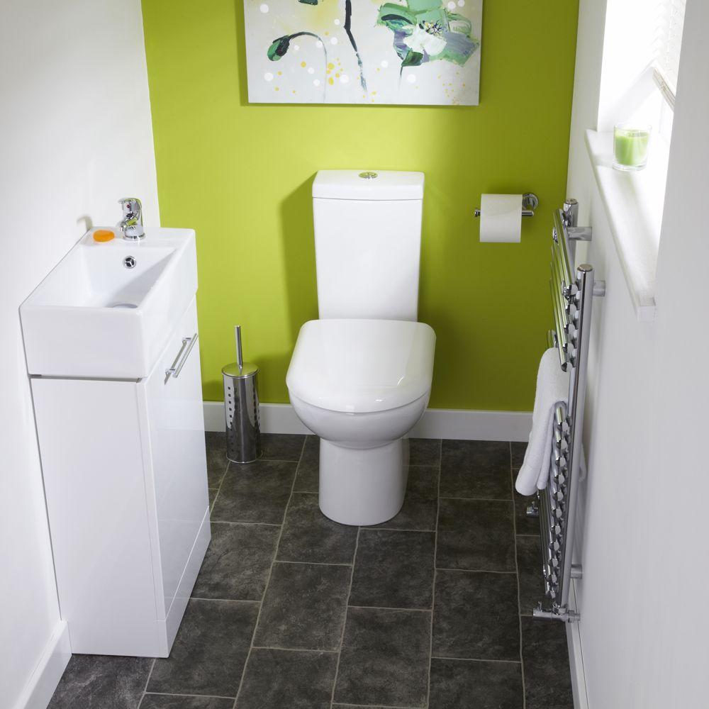 Milos White Gloss Cloakroom Suite - Image 1 | Ванная | Pinterest ...