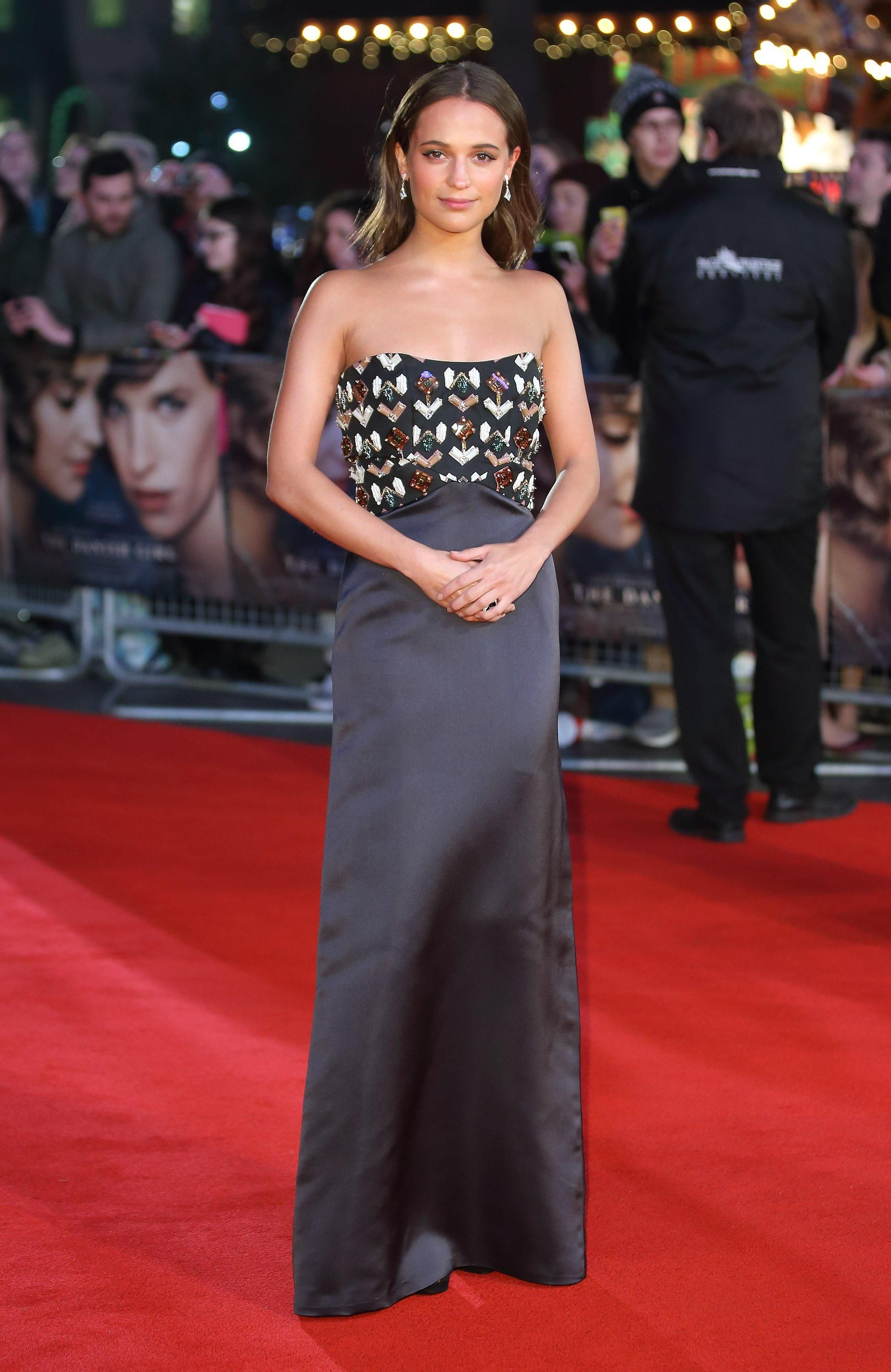 Alicia Vikander in Louis Vuitton at the premiere of The Danish Girl