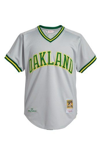688ca277c1c Mitchell   Ness  Oakland Athletics 1982 - Rickey Henderson Authentic   Baseball Jersey available at  Nordstrom