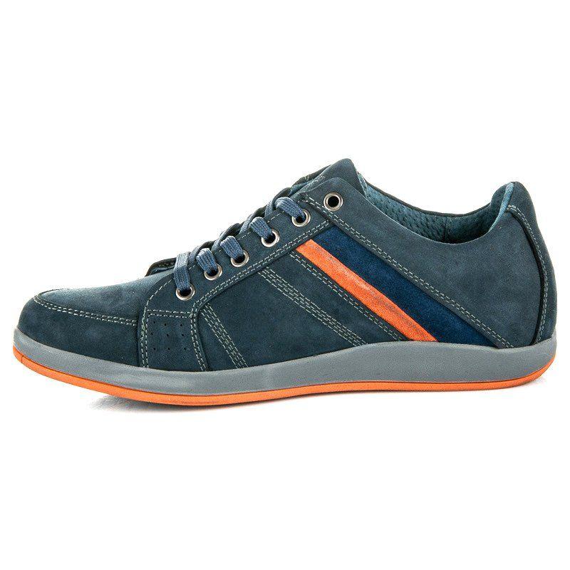 Buty Sportowe Mazaro Niebieskie Shoes Sneakers Womens Fashion