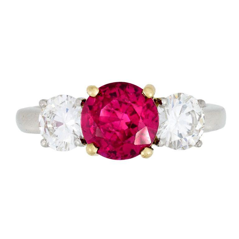 b4502b8403921 Tiffany and Co. Ruby and Diamond Three-Stone Ring | Favs | Three ...