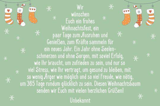 Weihnachtssprüche und Weihnachtsgrüße | familie.de #textefürweihnachtskarten