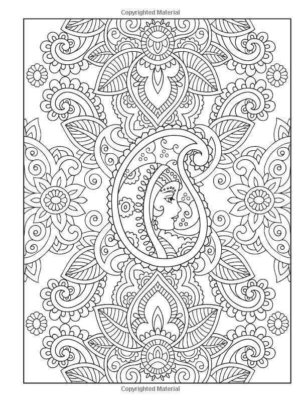 Haven Mehndi Designs Coloring Book Traditional Henna Body | Design ...