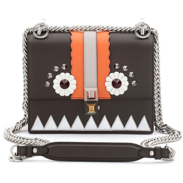 Fendi Kan I Faces Mini Shoulder Bag, Brown/Multi